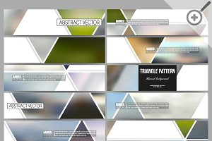 Set of blurred vector banners