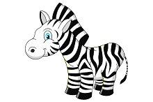 Cartoon zebra vector