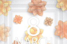 8 March holiday background
