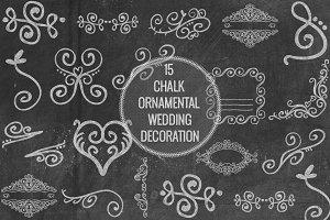 Chalk Ornamental Wedding Decoration