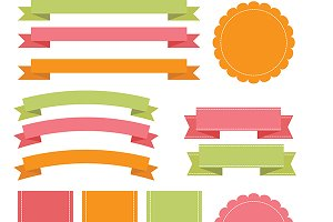 Vector Banners, Ribbons & Badges