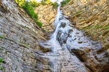 Giovannelli Gorge - upper waterfall