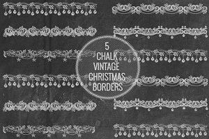 Chalk Vintage Christmas Borders