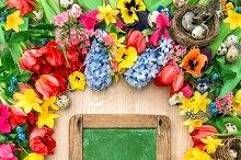Spring flowers easter eggs