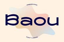 Baou Modern Sans + Logos by  in Fonts