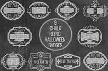 Chalk Retro Halloween Badges