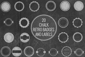 Chalk Retro Badges and Labels