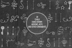 Chalk Arrows, Keys, Ornaments