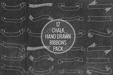 Chalk Hand drawn Ribbons Pack