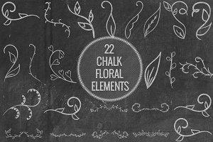Chalk Floral Elements