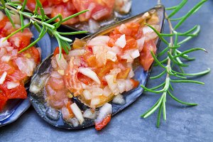 mussels vinaigrett