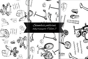 Set children seamless pattern.