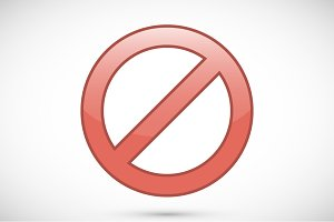 Red prohibition sign icon