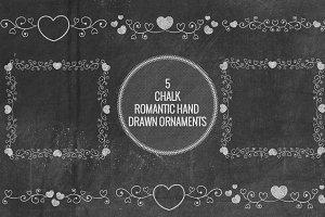 Chalk Romantic Hand Drawn Ornaments