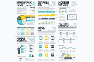 Big Flat Color Infographic Elements