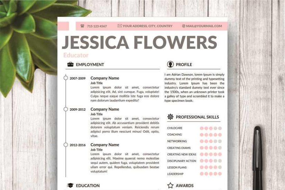 Modern Resume Template for MS Word ~ Resume Templates ...