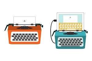 Classic and usb-typewriter