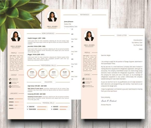 Modern Resume Template for Word in Resume Templates - product preview 2