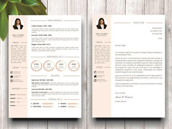 Modern Resume Template for Word in Resume Templates - product preview 4