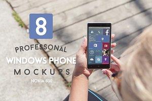 8 Windows Phone Mockups