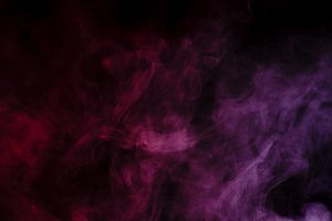 Abstract purple smoke hookah