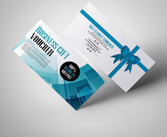 Business gift voucher template card templates creative market business gift voucher template cards wajeb Gallery