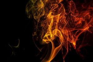 Abstract orange smoke