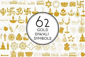 Gold Diwali Symbols
