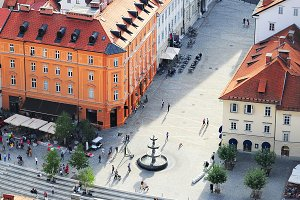 Ljubljana historic center, Slovenia