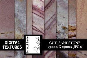 8 Cut Sandstone Textures
