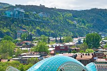 Famous Peace Bridge. Tbilisi,Georgia