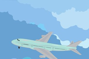 airplane, vector illustration