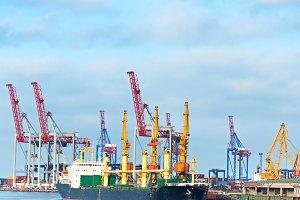 Odessa industrial sea port, Ukraine