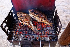 Fish on grill 2