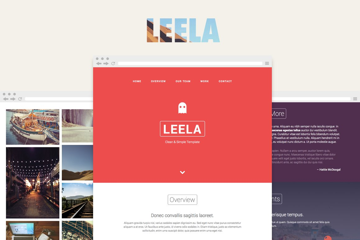Leela – One Page HTML Template ~ HTML/CSS Themes ~ Creative Market