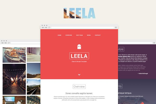 Leela – One Page HTML Template