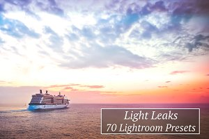 70 Light Leaks Lr Presets
