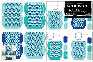 Blue Bargello Pillow Box Template