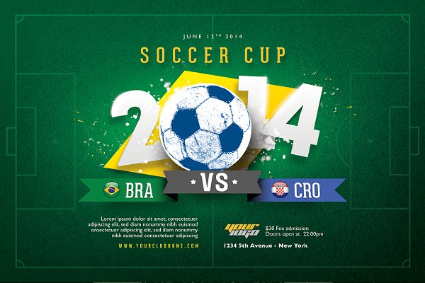 Soccer Cup Flyer Template
