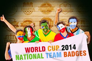 World Cup 2014 National Team Badges
