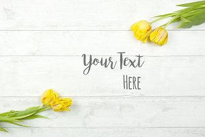 Floral Styled Stock Photo Flat Lay