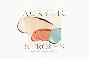 Acrylic Brush Strokes & Abstract