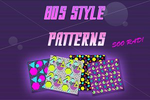 Seamless 80s style patterns