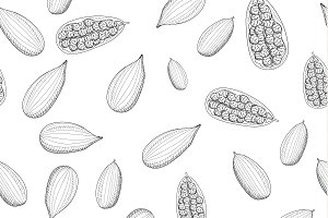Seamless pattern with cardamom