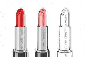 Lipstick . Cosmetics