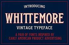Whittemore – Vintage Font Pair by  in Fonts