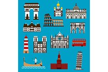 Europeand landmarks and temples