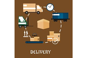 Delivery and shipping concept
