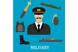 Military profession icons