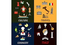 Italian travel and culture icons